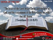 "VERSE OF THE DAY:  ""The grace of the Lord Jesus Christ, and the love of God, and…"