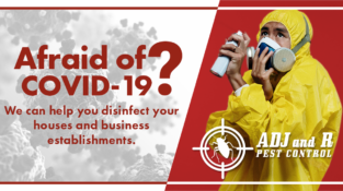 Afraid of COVID-19?   We can help you disinfect your houses and business establi…