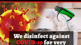 We disinfect against COVID-19 for very reasonable price….  Address: ADJ&R Bldg…